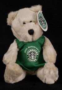 Starbucks Bearista 2001 15th Edition 30th Anniversary Green Apron Bear Plus
