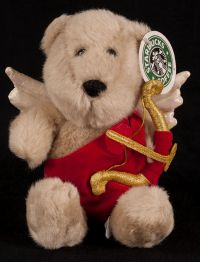 Starbucks Bearista 2001 13th Edition Cupid Love Bear Plush