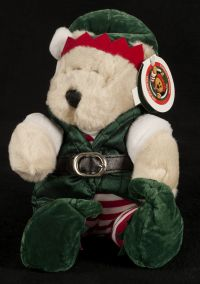 Starbucks Bearista 2001 17th Edition Holiday Elf Christmas Bear Plush