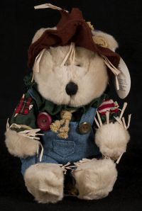 Starbucks Bearista 2001 16th Edition Scarecrow Bear Plush