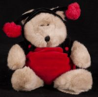 Starbucks Bearista 2001 14th Edition Ladybug Bear Plush