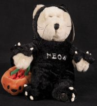 Starbucks Bearista 2002 22nd Edition Halloween Cat MEOW Bear Plush