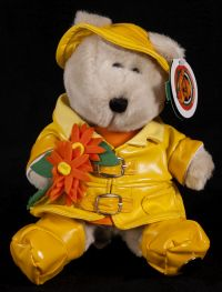 Starbucks Bearista 2002 19th Edition Spring Time Raincoat Bear Plush