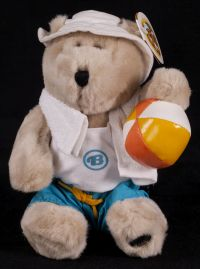 Starbucks Bearista 2002 Summer Beach Boy Bear Plush