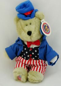 Starbucks Bearista 2002 20th Edition Uncle Sam Patriotic Bear Plush