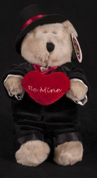 Starbucks Bearista 2002 18th Edition Tuxedo BE MINE Bear Plush