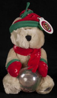 Starbucks Bearista 2002 23rd Edition Snowglobe Photo Display Bear Plush