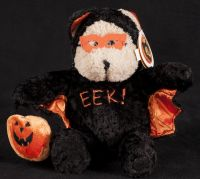 Starbucks Bearista 2003 27th Edition Halloween EEK Bat Bear Plush