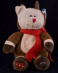 Starbucks Bearista 2003 28th Edition Rudolph Reindeer Bear Plush