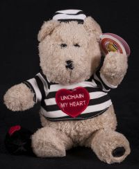 Starbucks Bearista 2003 24th Edition Prisoner Unchain My Heart Bear Plush