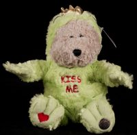 Starbucks Bearista 2004 29th Edition Frog Kiss Me Bear Plush