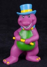 Barney the Dinosaur Tap Dancing PVC Figure Lyons Group