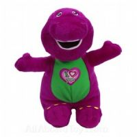 Barney I LOVE YOU Singing Plush Lovey - Printed