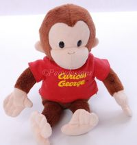 Russ Classic CURIOUS GEORGE Stuffed Plush Doll Toy