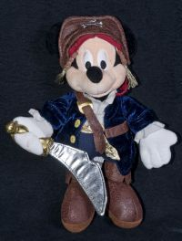 Disney Mickey Mouse Jack Sparrow Pirates of the Caribbean Bean Bag Plush