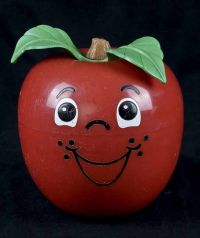 Fisher Price Happy Apple #435 Chime Toy - 1972 SHORT STEM