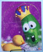 Veggie Tales LARRY BOY BATH TIME Wooden 8pc Puzzle