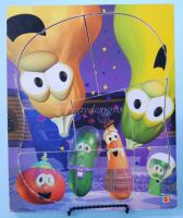 Veggie Tales IN OUTER SPACE Wooden 8pc Puzzle