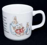 Wedgwood Beatrix Potter PETER RABBIT Porcelain Coffee Mug Cup
