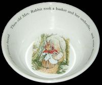 Wedgwood Peter Rabbit To the Baker Child's Bowl