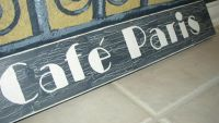 CAFE PARIS French Wooden Wall Sign